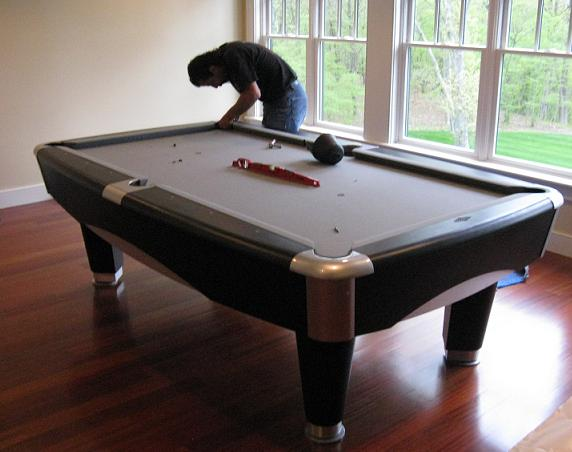 Past Jobs Independent Billiard Services Has Done - Brunswick metro pool table